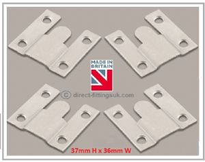 Flush Mounts Hanging/hang wall headboard mirror/picture interlocking Brackets. SMALL 37x36. 2 -100 pair